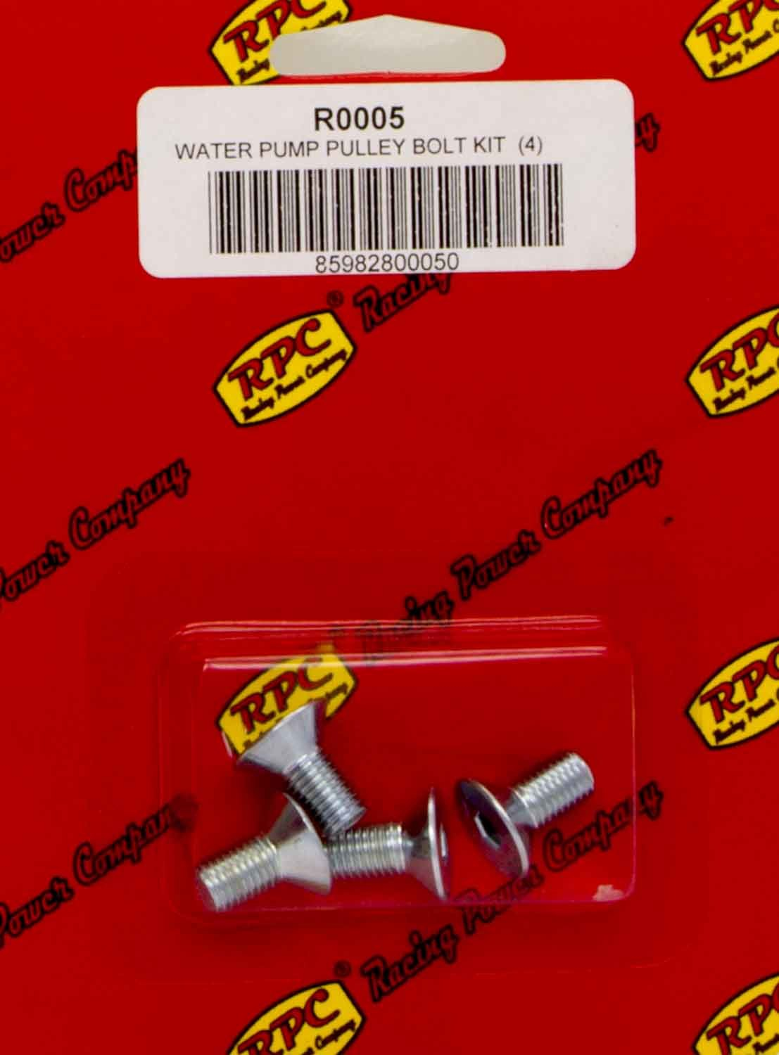 Racing Power Co-packaged Bolt Kit For SBC/BBC Alum LWP Pulley 4pk