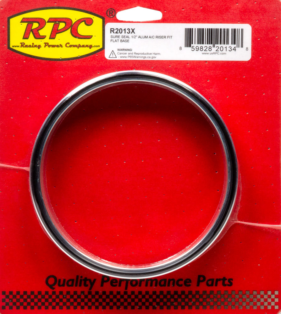 Racing Power Co-packaged Sure Seal 1/2In Alum A/ C Riser Fit Flat Base
