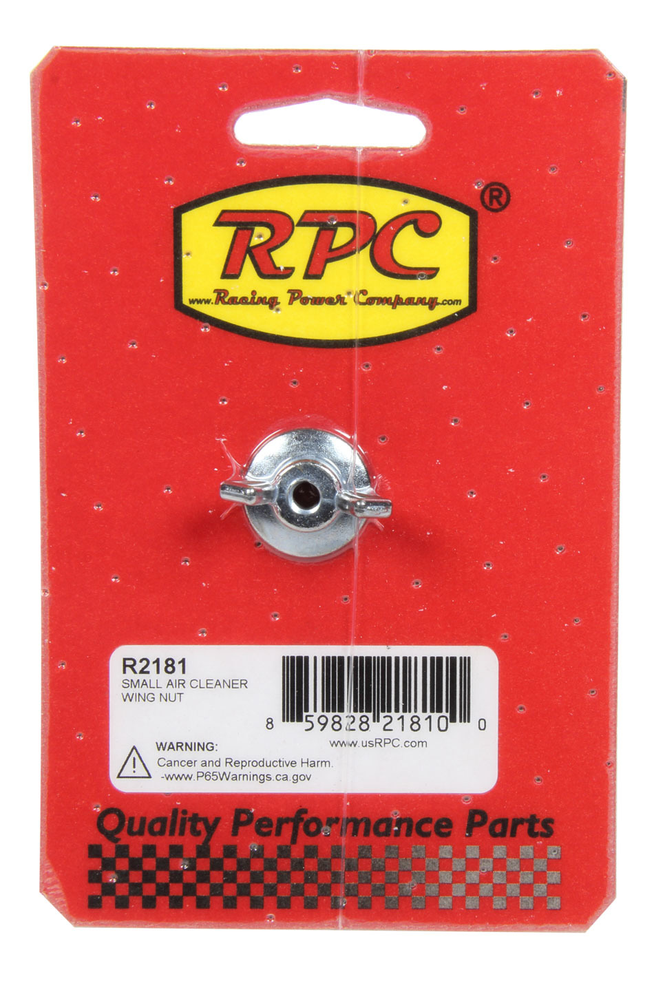 Racing Power Co-packaged Small Air Cleaner Wing Nut