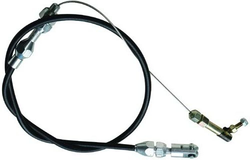 Racing Power Co-packaged 24In Black Throttle Cab le Braided Stainless