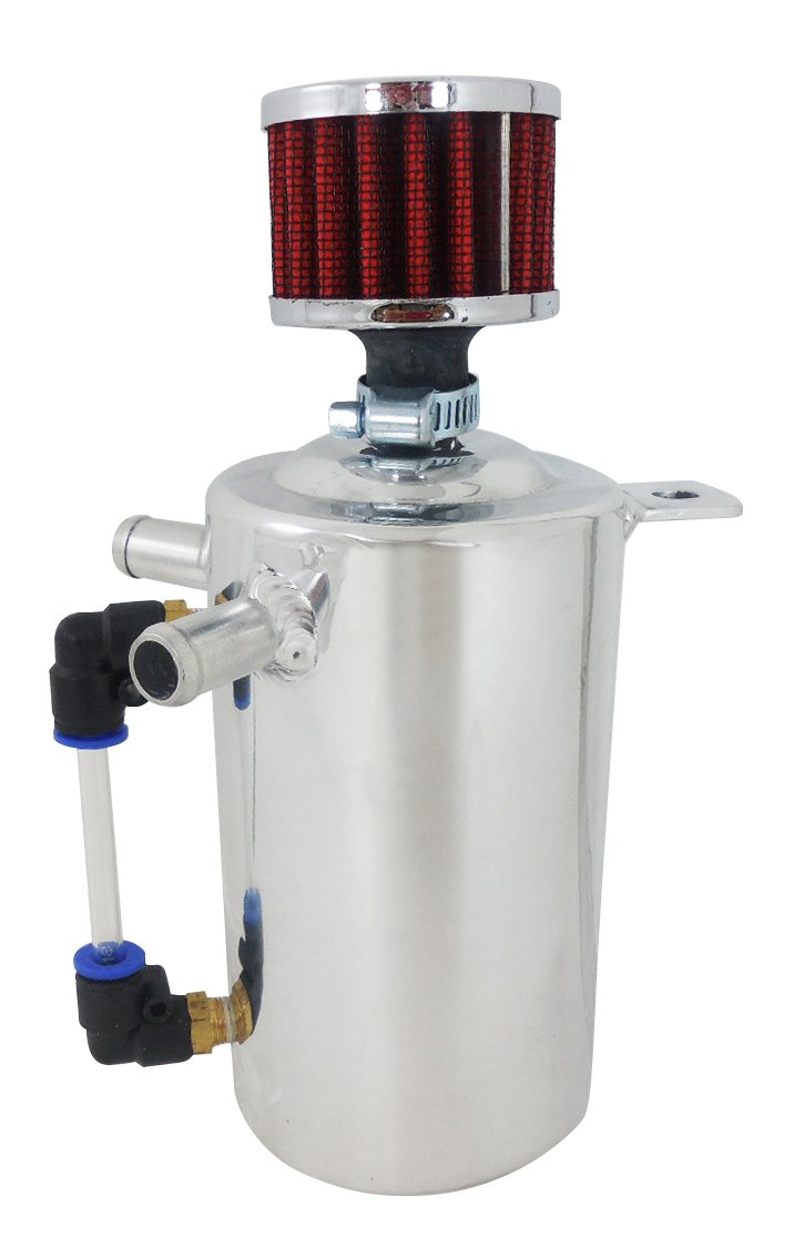 Racing Power Co-packaged Fabricated Alum Oil Catc h Tank Breather 1.0 Pint