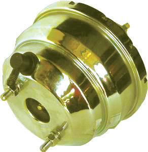 Racing Power Co-packaged Yellow Zinc Power Brake Booster -7In