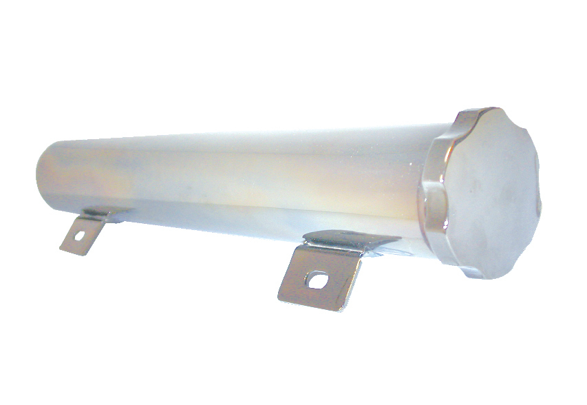 Racing Power Co-packaged Aluminum Tank Overflow 1 3In X 2In - Polished