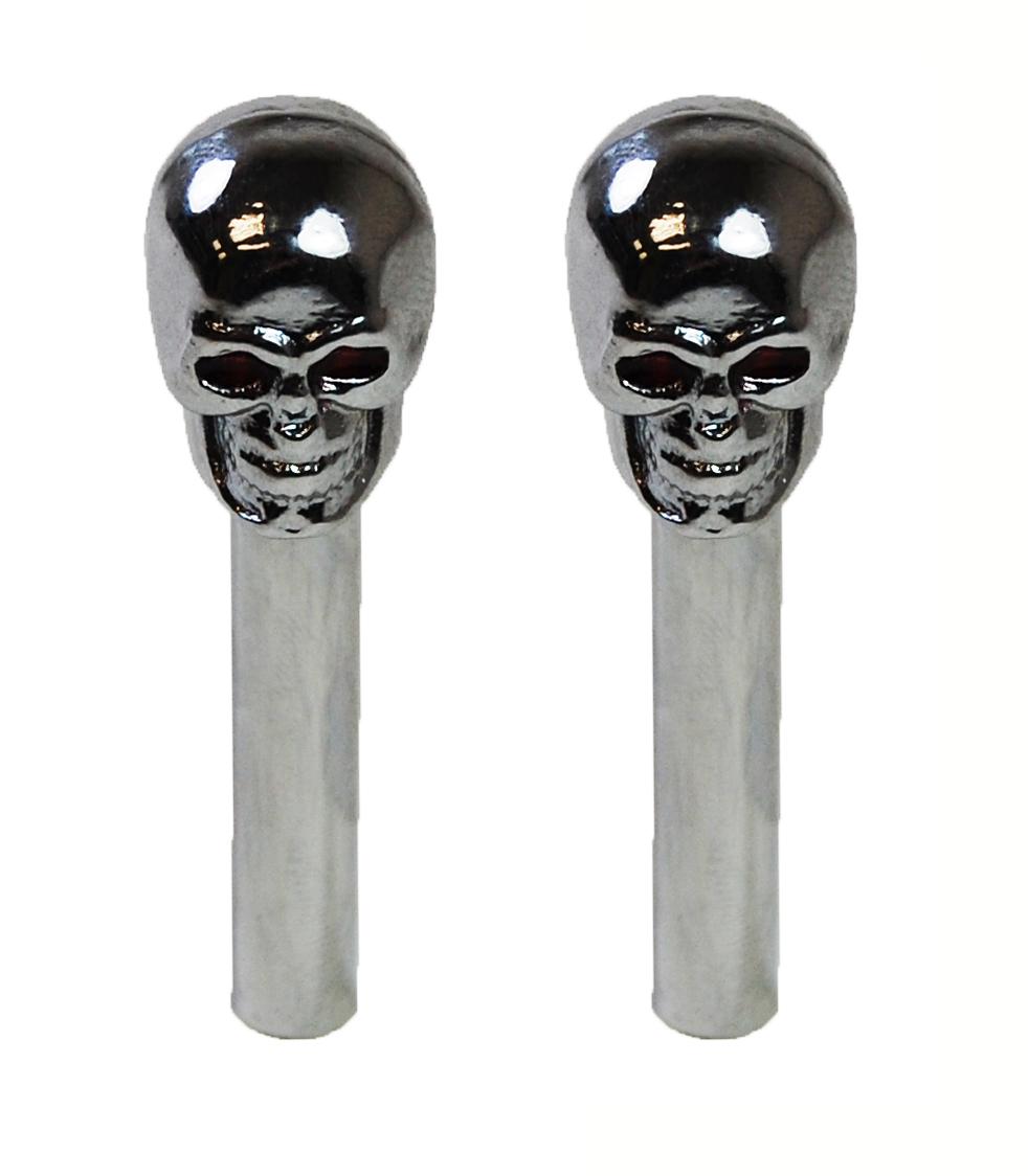Racing Power Co-packaged Skull Door Lock Knobs Pr