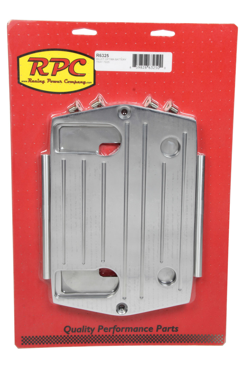 Racing Power Co-packaged Optima Alum Ball Milled Battery Tray Polished