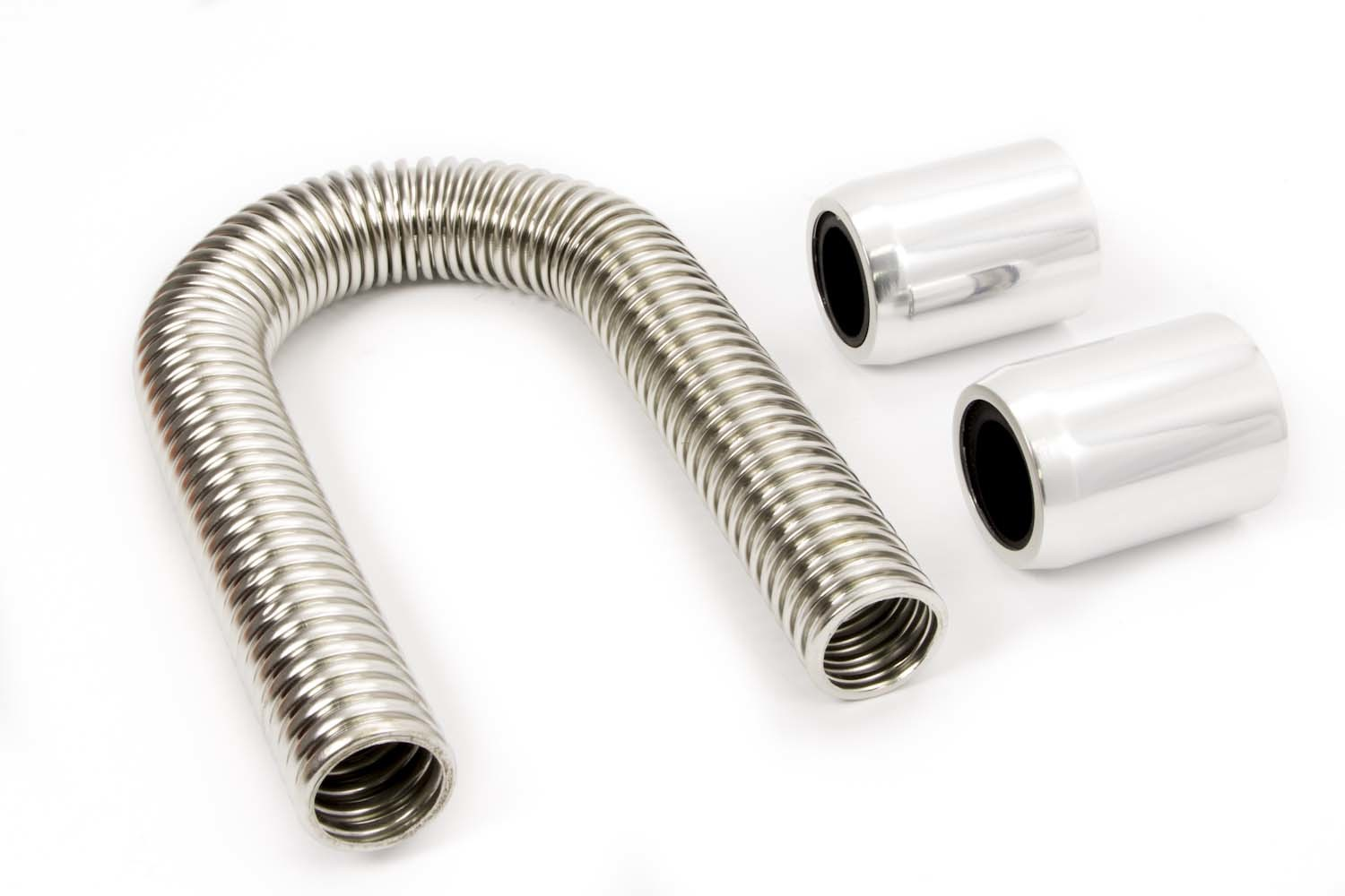 Racing Power Co-packaged 48in Stainless Hose Kit w/Polished Ends