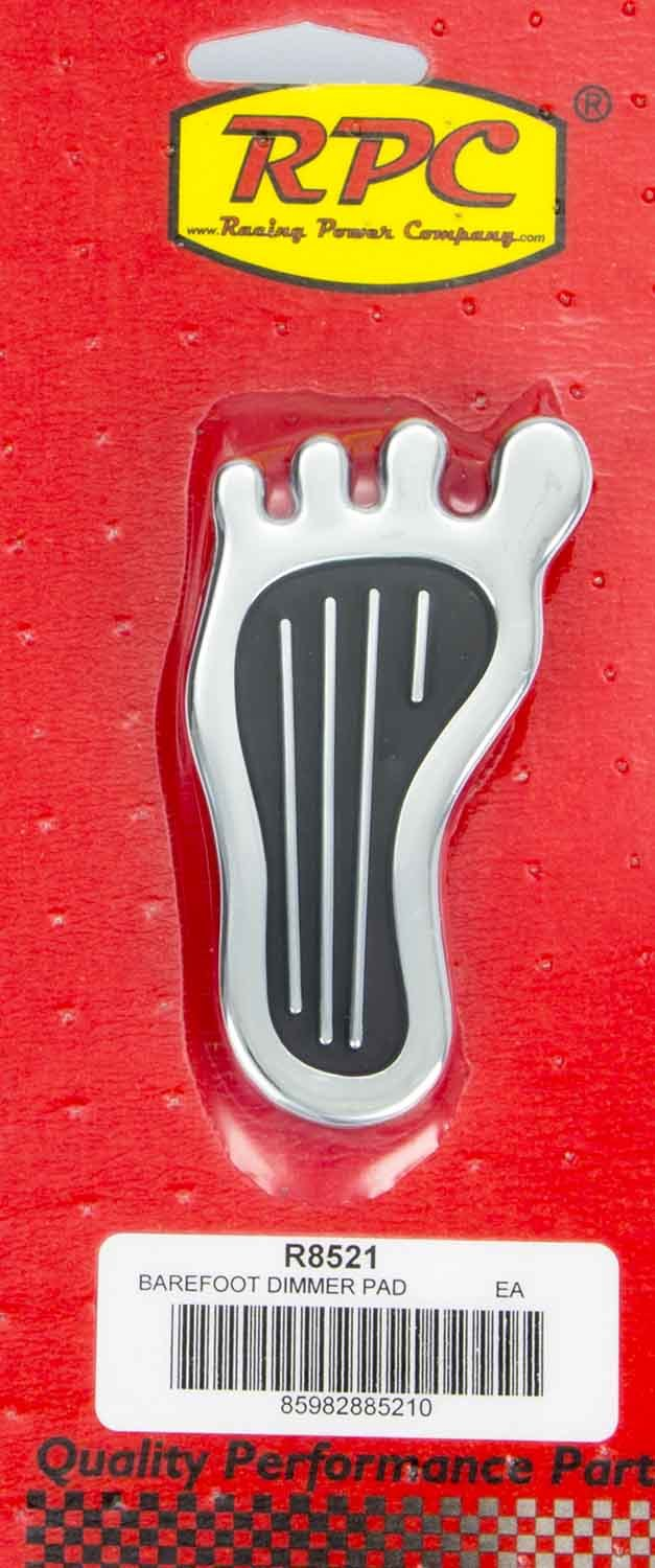 Racing Power Co-packaged Dimmer Pad Barefoot Chrome Steel
