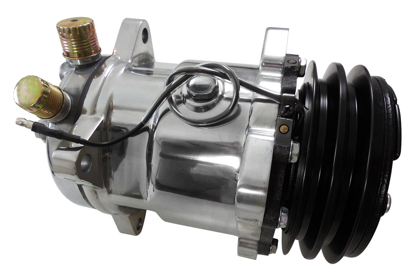Racing Power Co-packaged Sanden #508 12V A/C Comp ressor V-Belt Pulley