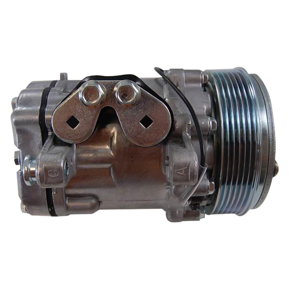 Racing Power Co-packaged Sanden #7176 12V A/C Co mpressor Serpentine