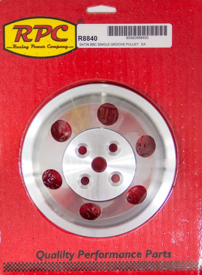 Racing Power Co-packaged BBC SWP Single Groove Upper Pulley