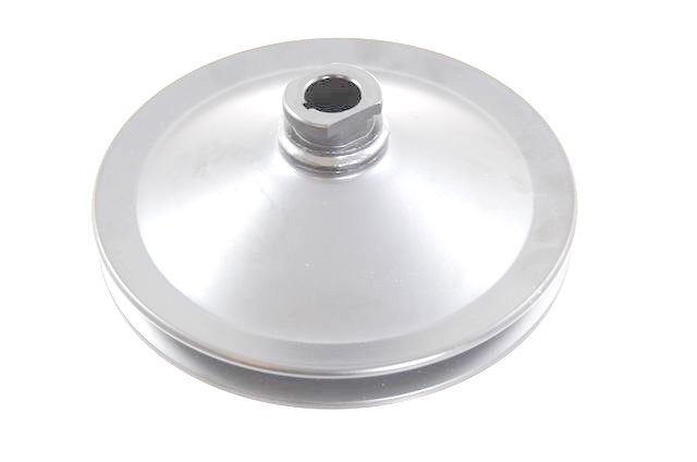 Racing Power Co-packaged 283/327 GM SB Power Stee ring Pulley Chrome