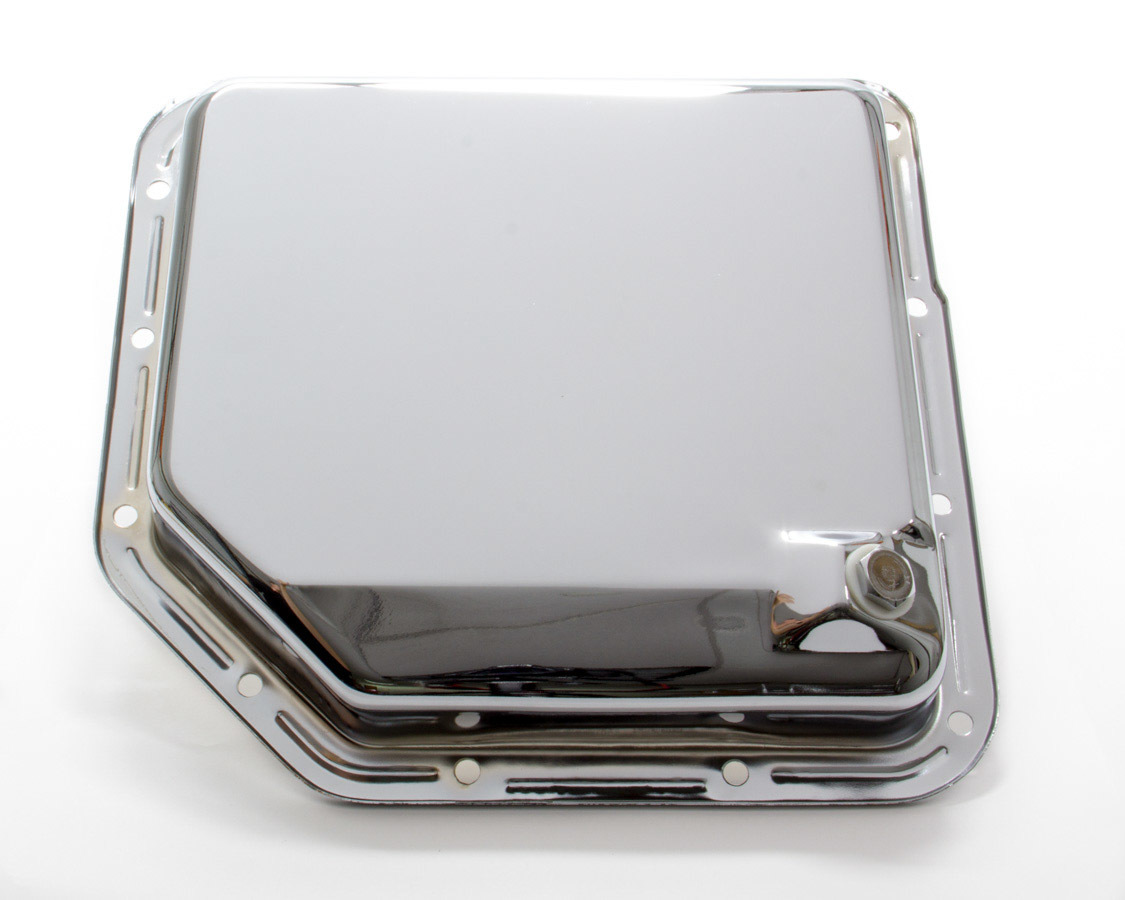 Racing Power Co-packaged TH350 Trans Pan Chrome Steel Plain