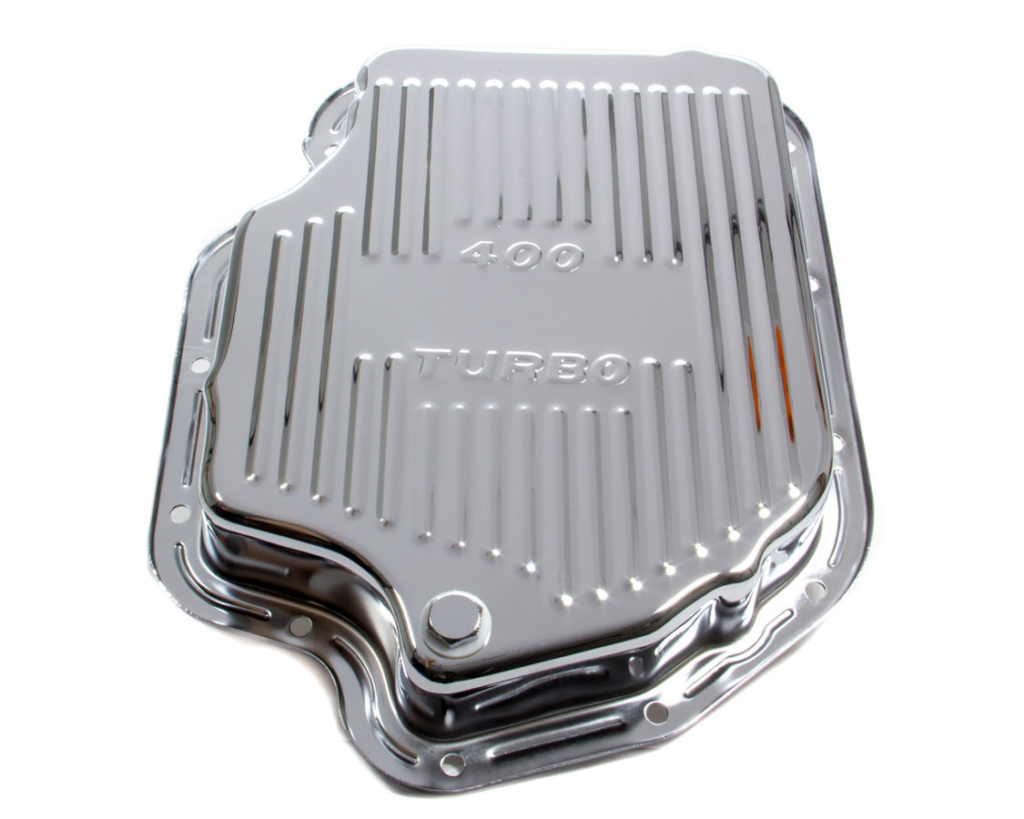 Racing Power Co-packaged TH400 Trans Pan Chrome Steel Finned
