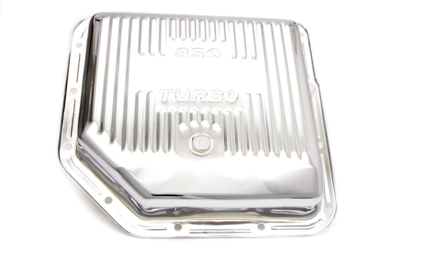 Racing Power Co-packaged TH350 Trans Pan Chrome Steel Finned