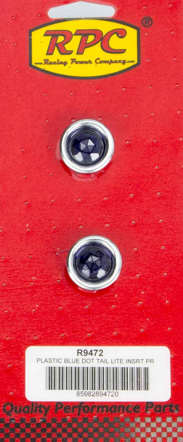 Racing Power Co-packaged Blue Dot Taillight Insert Each