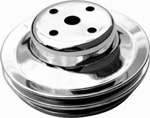 Racing Power Co-packaged BB Chevy Double Groove Long Water Pump Pulley