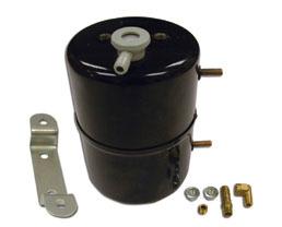 Racing Power Co-packaged Black  Steel Vacuum Sys tem Reservoir Tank