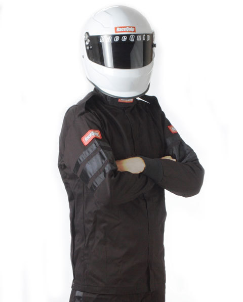 Racequip Black Jacket Single Layer Med-Tall