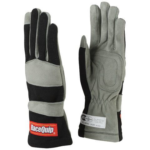 Racequip Gloves Single Layer Medium Black SFI