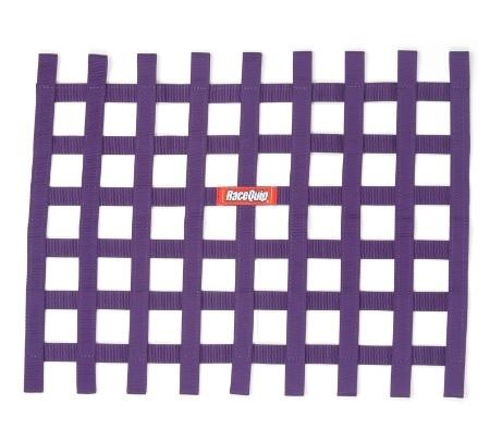 Racequip Ribbon Window Net Purple Non-SFI 18in x 24in