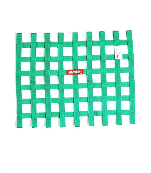 Racequip Ribbon Window Net SFI Green