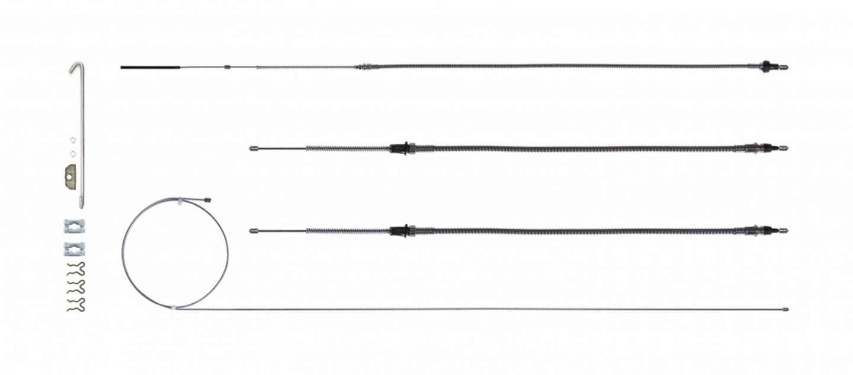 Right Stuff Detailing Brake Cable Set w/Hardwa re 68-69 Camaro