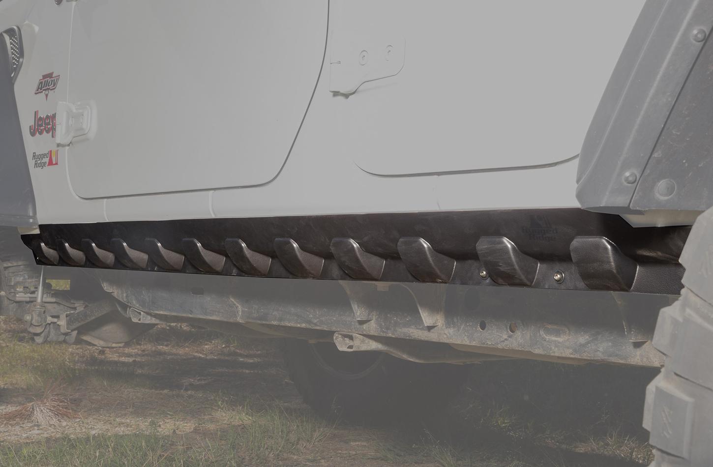 Rugged Ridge Rocker Guard Body Armor 18-   Jeep Wrangler JL