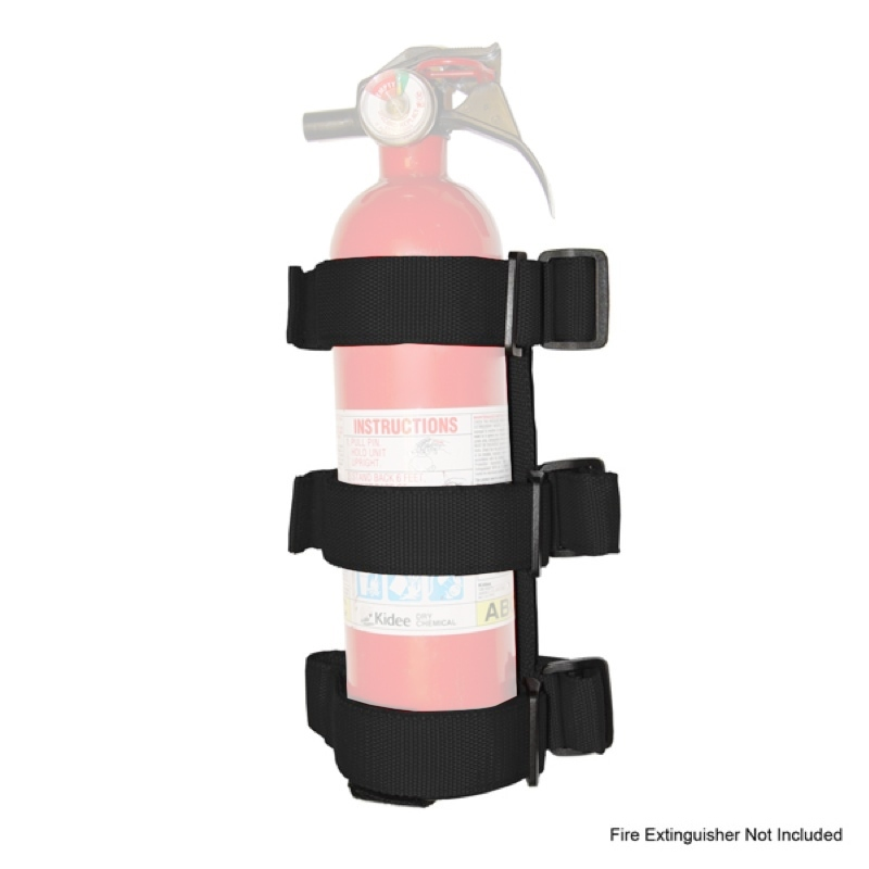 Rugged Ridge Sport Bar Fire Extinguis her Holder Black 55-18