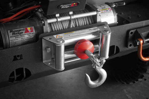 Rugged Ridge Winch Cable Stopper  Red Universal