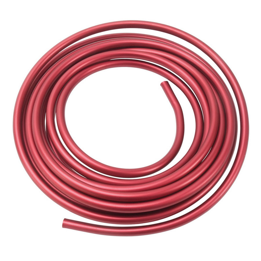 Russell 3/8 Aluminum Fuel Line 25ft - Red Anodized