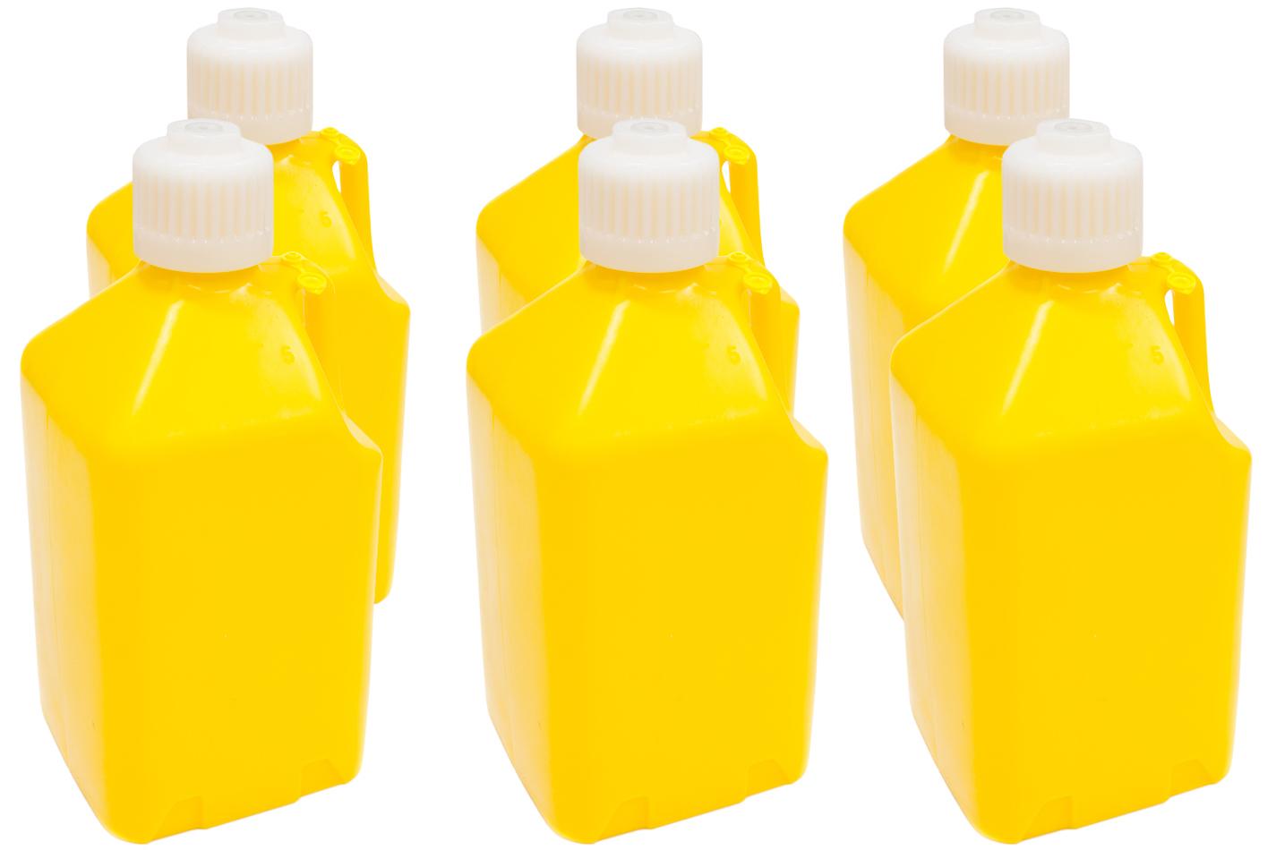 Scribner Utility Jug - 5-Gallon Yellow - Case 6