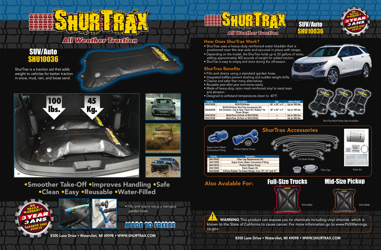 Shurtrax SUV/Auto Sell Sheet