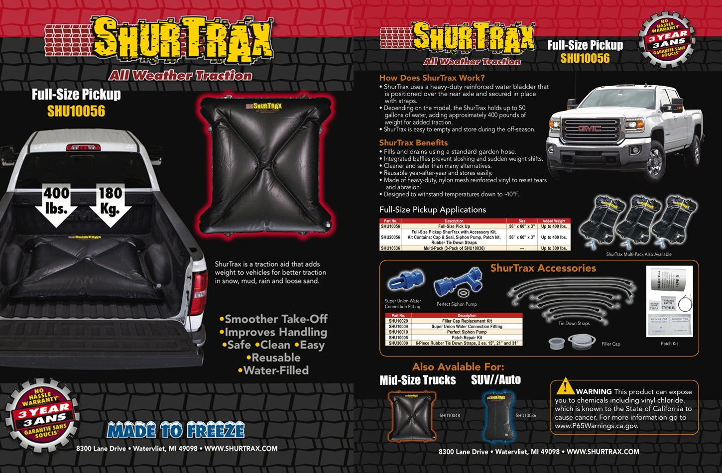 Shurtrax Full-Size Pick-UP Sell Sheet