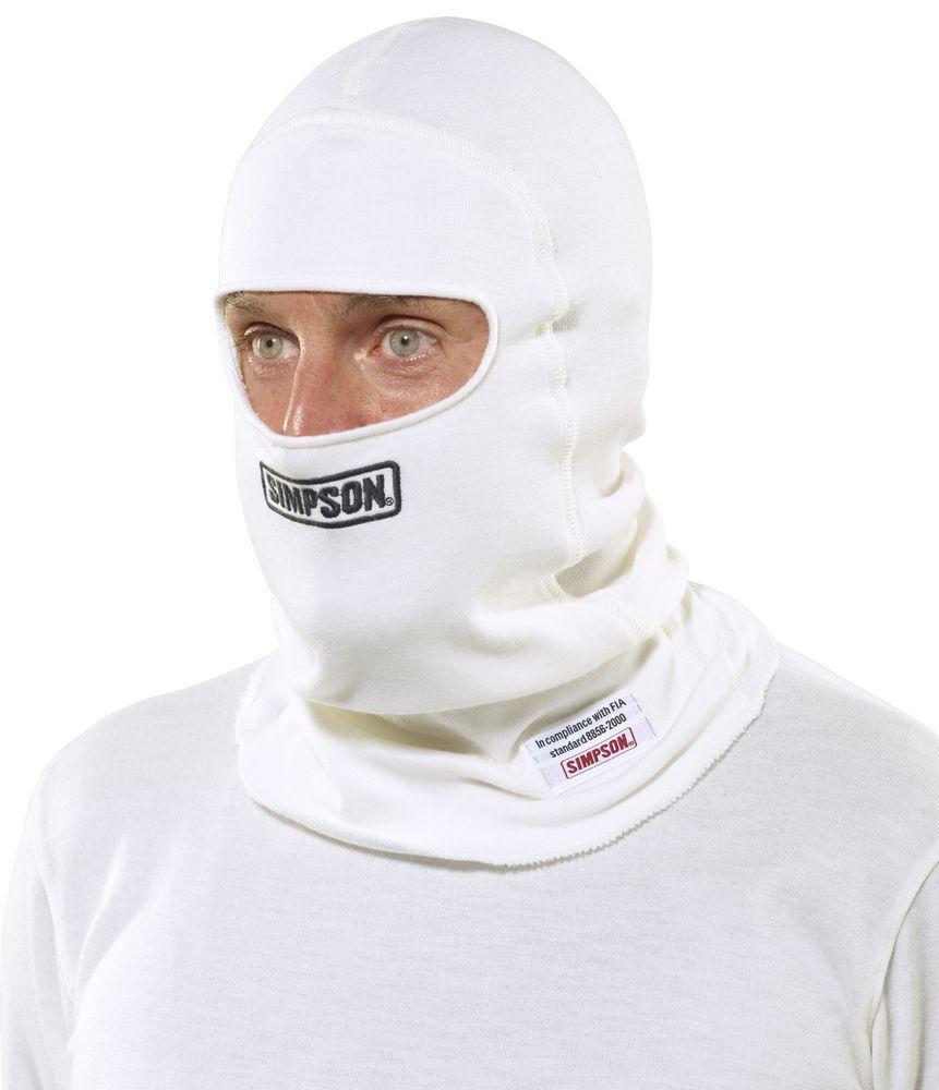 Simpson Safety Nomex Head Sock White Single Eyeport