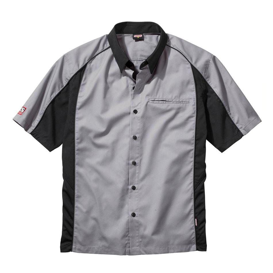 Simpson Safety Talladega Crew Shirt XXL Black/Gray