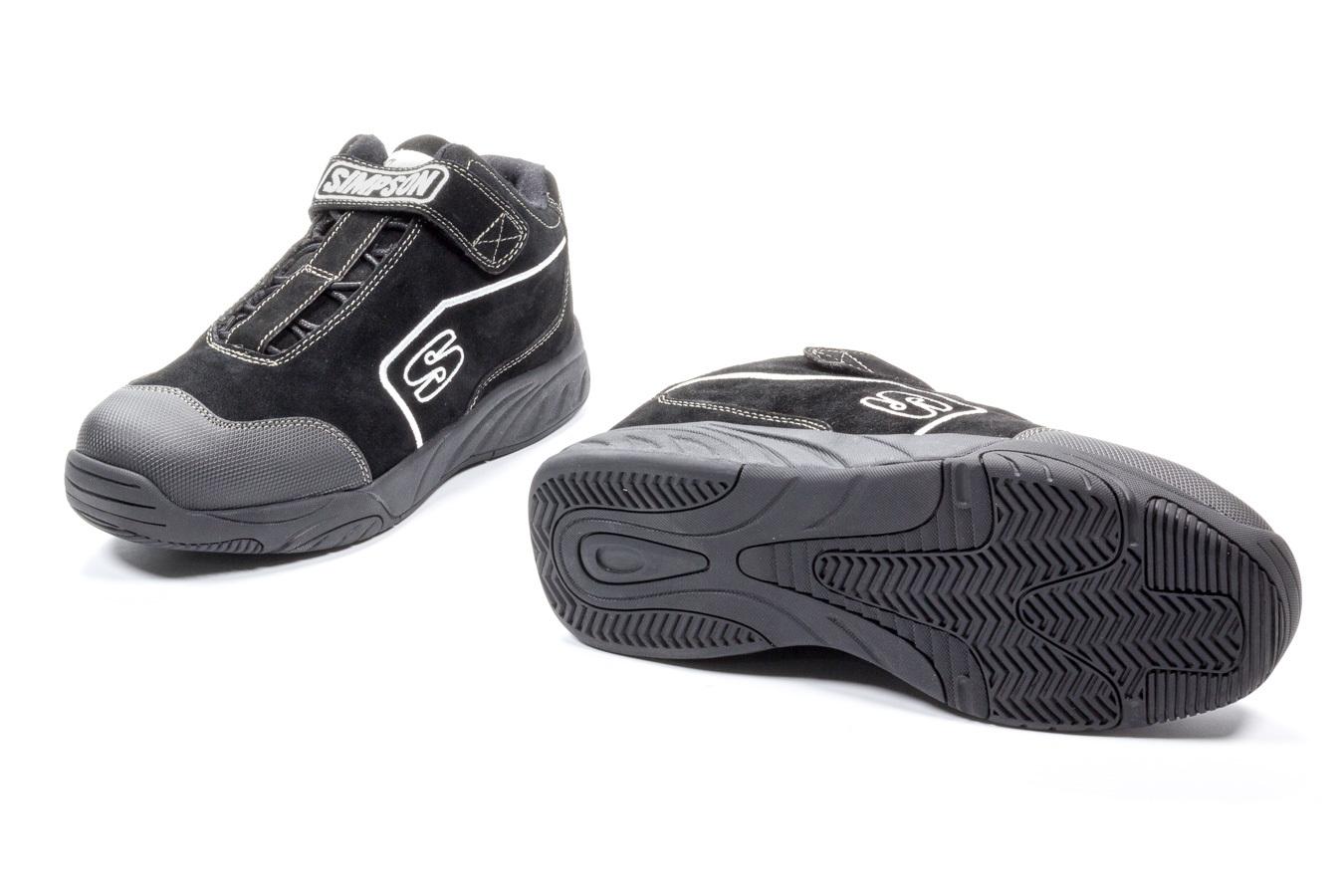Simpson Safety Pit Box Shoe Size 8.5 Black