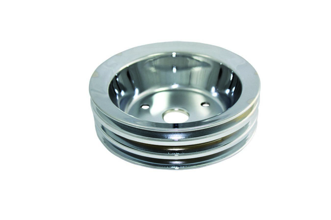 Specialty Products Company SBC SWP 3 Groove Crank Pulley Chrome