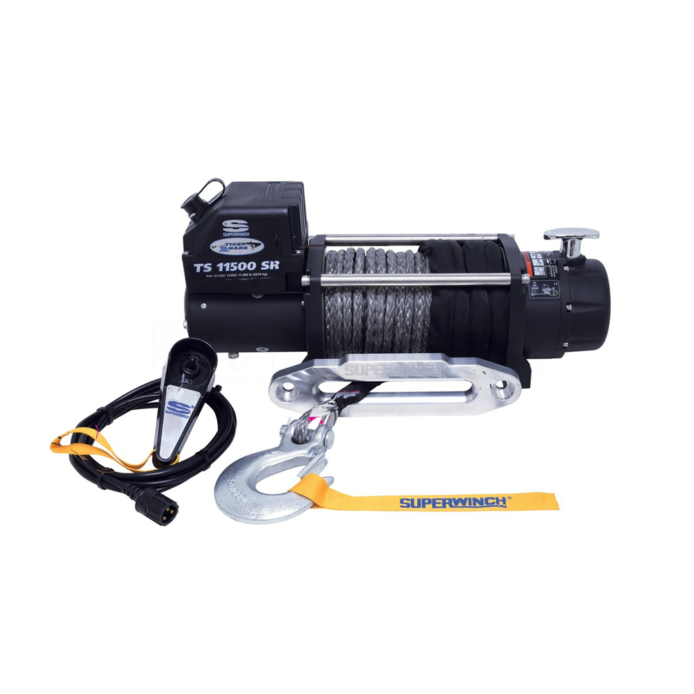 Superwinch Tiger Shark 11500SR Winc h 11500lb Synthetic Rope