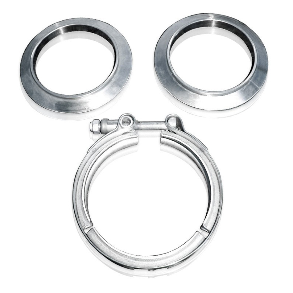 Stainless Works V-band kit  3-1/2in Kit Includes Clamp & Flanges
