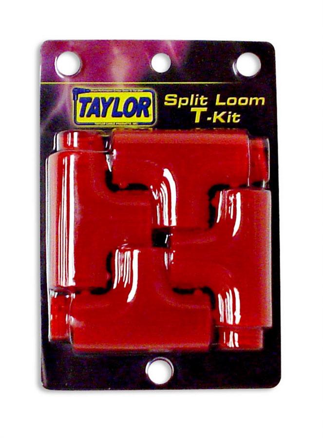 Taylor/vertex Tubing Adapters - Split Tee Kit -  Red