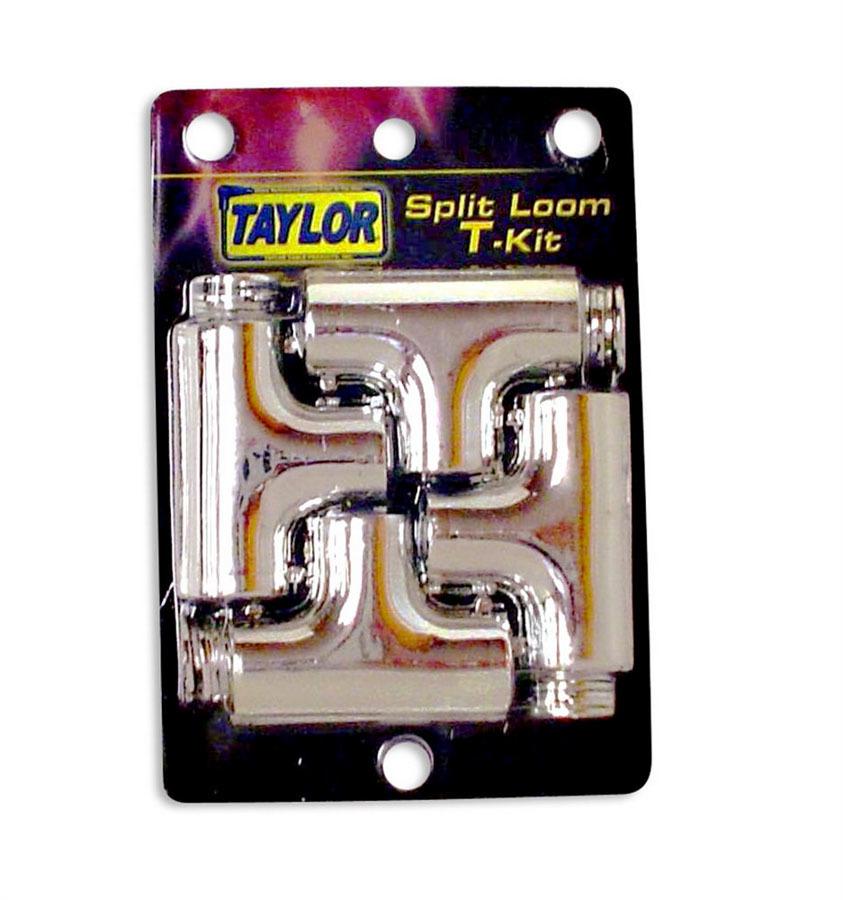 Taylor/vertex Split Tee Tubing Adapter Kit - Chrome