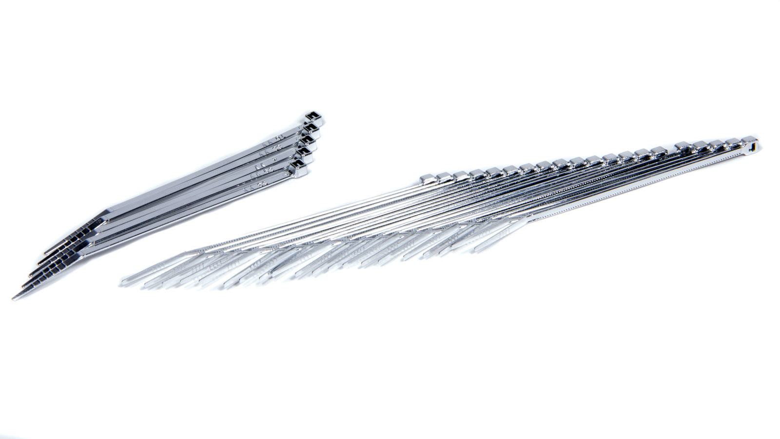 Taylor/vertex 4in Chrome Plated Wire Ties (25pk)