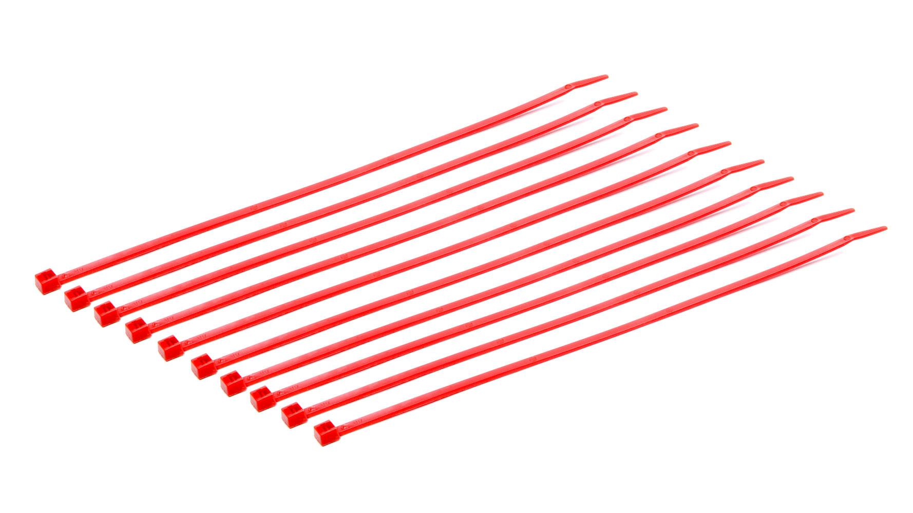 Taylor/vertex Tie Straps 8in Red