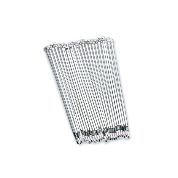 Taylor/vertex Tie Straps 8in Silver Chrome 25 Pack