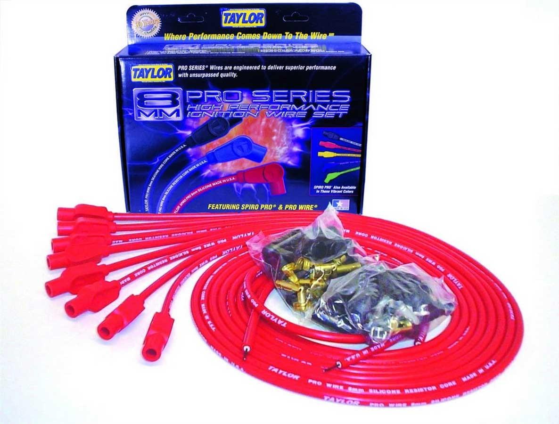 Taylor/vertex 8mm Red Pro Wire 180 Dgr