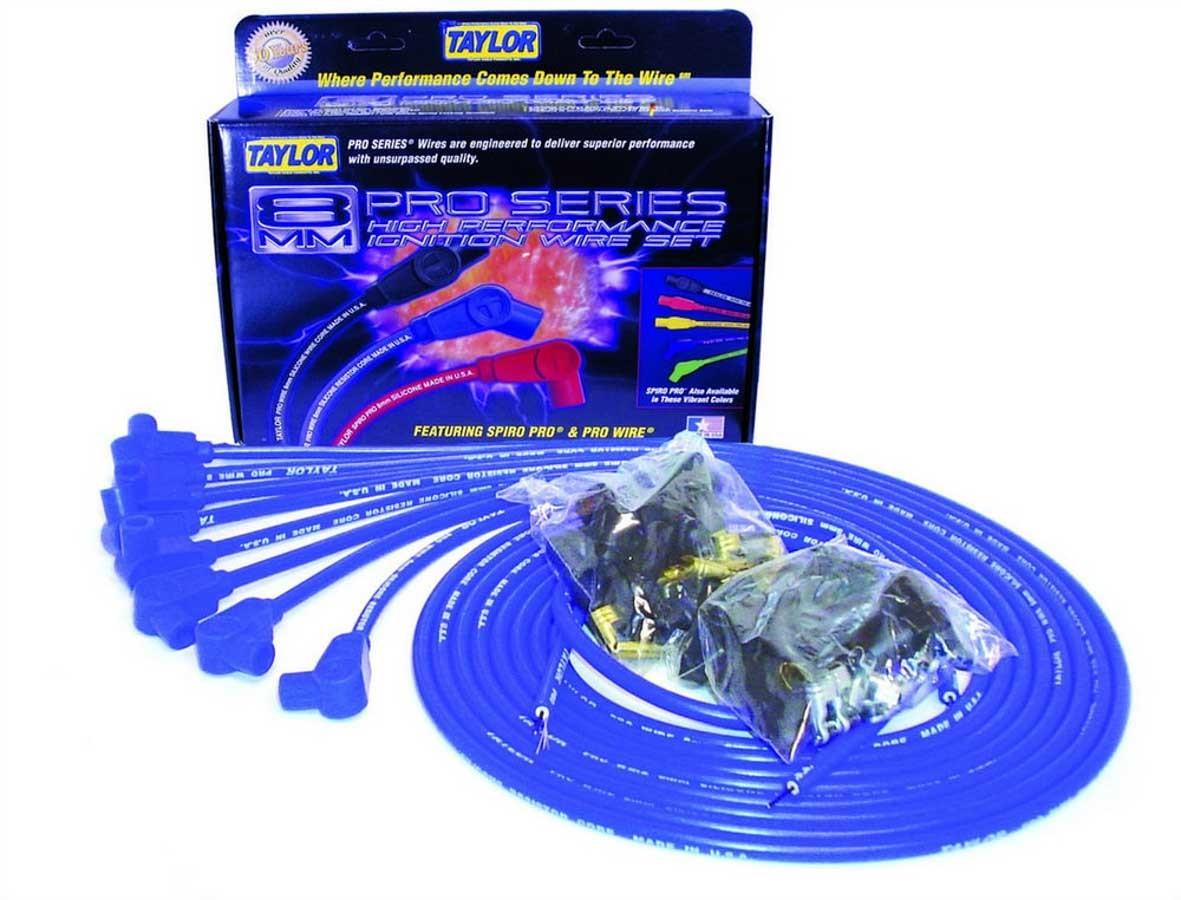 Taylor/vertex 8mm Blue Pro Wire 90 Dgr