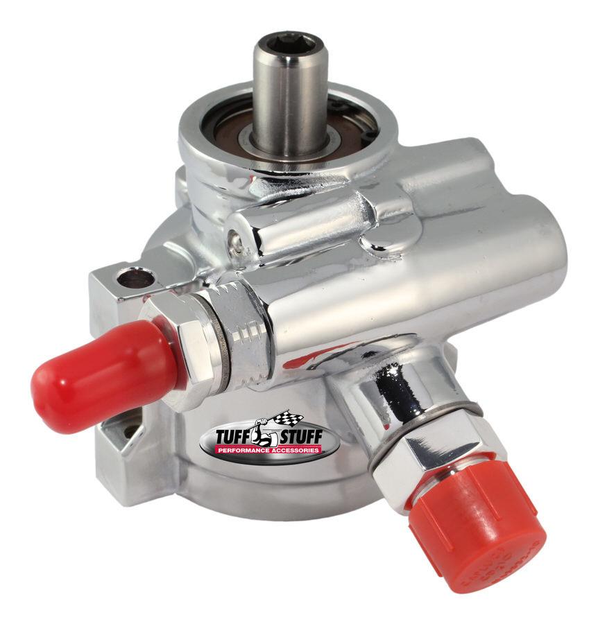 Tuff-stuff Type II Power Steering Pump Chrome w/AN Fitting