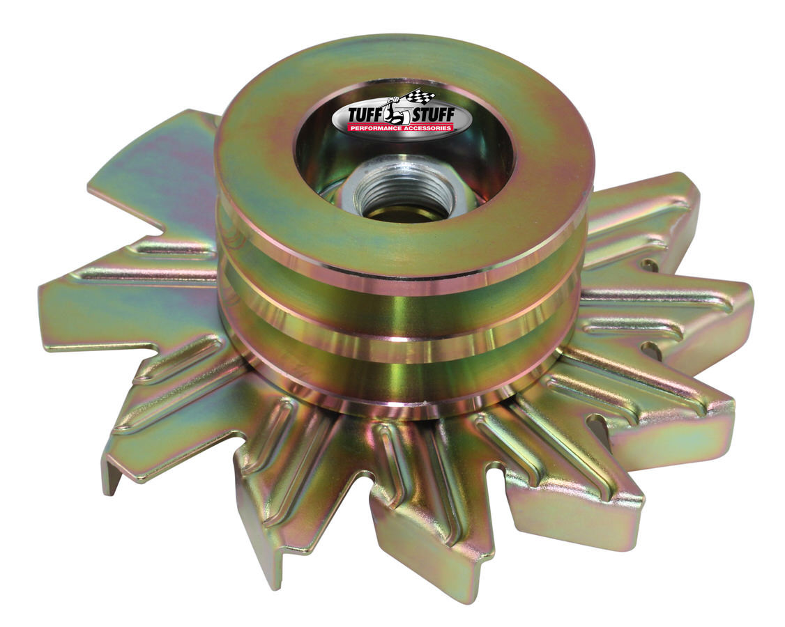 Tuff-stuff Alternator Gold Zinc Fan And Pulley Combo