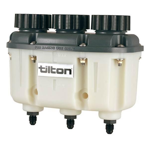 Tilton Reservoir Plastic 3-Chamber AN-4 Fittings