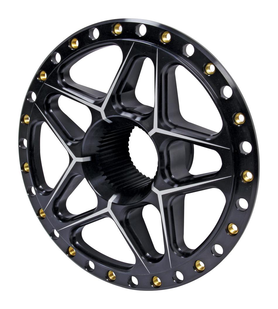 Ti22 Performance Splined Wheel Center Black